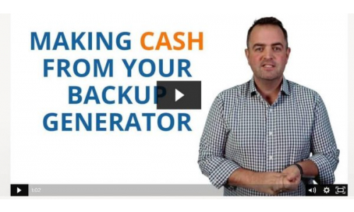 How do you make cash from your Backup Generator