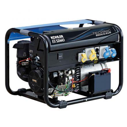 SDMO Generator Technic 6500 A AVR UK Petrol Generator