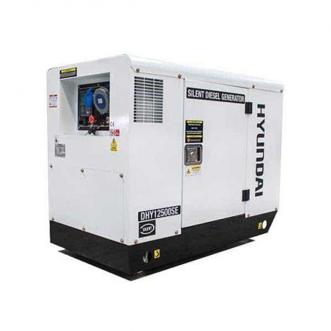 Hyundai Generator DHY12500SE 10kW/12.5kVA 230v Mains Standby Silenced Diesel Generator