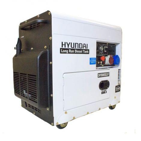 Hyundai Generator DHY8000SELR-T 6kW Multi Phase Silenced Long Run Diesel Generator