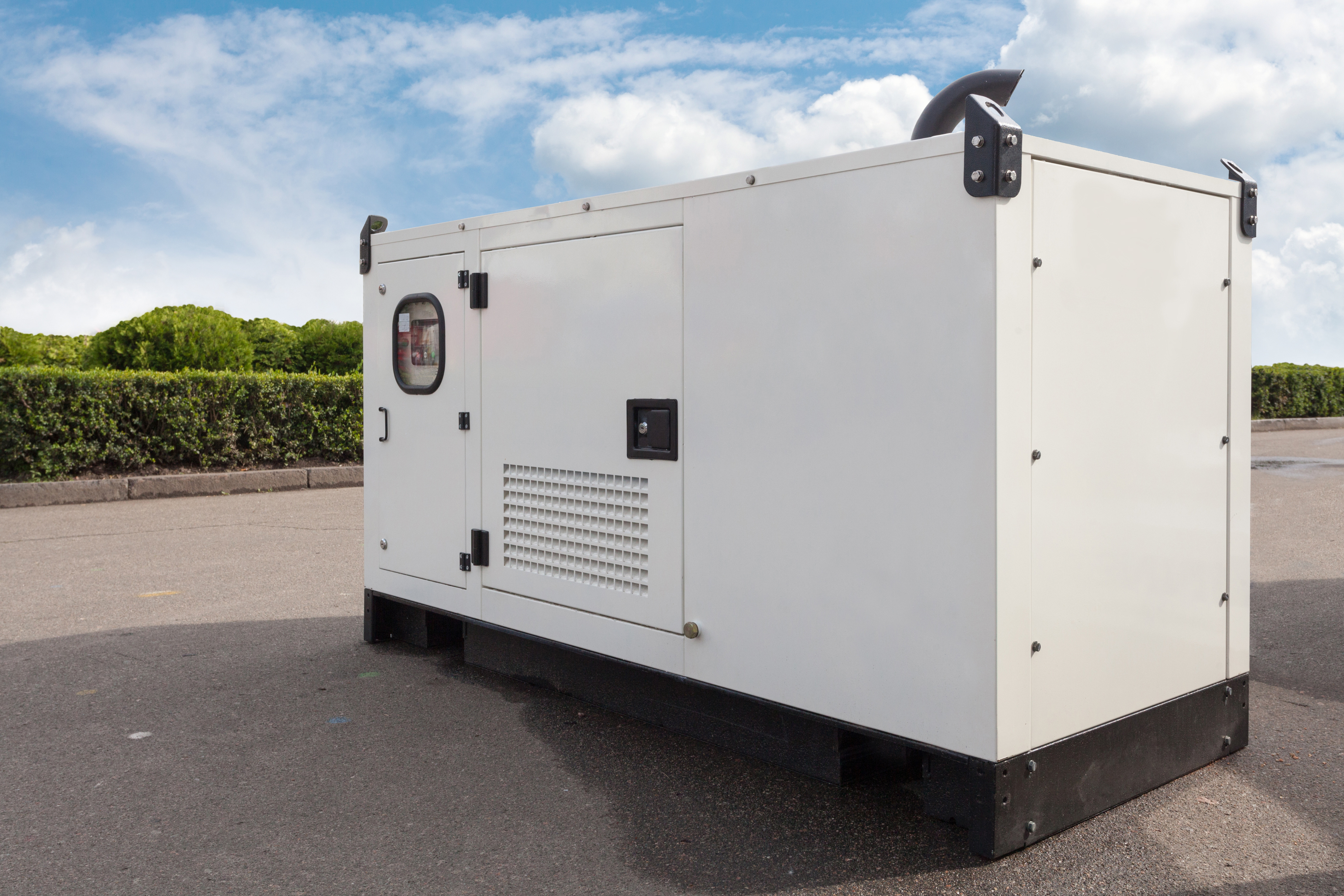 diesel generator outside