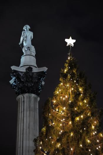 UPS Systems lights Trafalgar's iconic Christmas tree