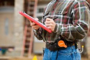 Engineer on site survey